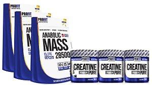 3x Anabolic Mass 3kg + 3x Creatina - Profit
