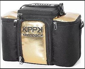 Bolsa Termica - Keeppack Max Gold - Dourada Marmita P/ Dieta