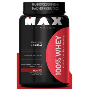 100% Whey Protein Max Titanium 900 g vc 02/2020