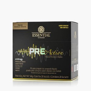 PRE-ACTION ENERGY DRINK 540g - Box c/ 20 sachês Essential
