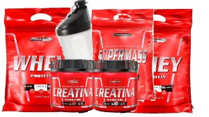 KIT 2 X WHEY 900+1 SINISTER MASS+2 CREATINA 150G + COQ