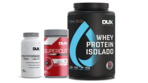 Kit Combo Whey Isolado Dux + Burn Supercut + Multivitaminico