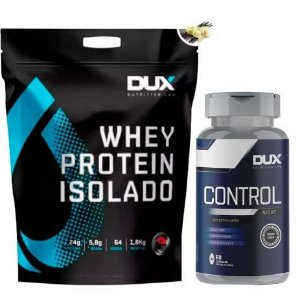 Kit Dux Whey Protein Isolado 1,8Kg + Control Night - Dux nut