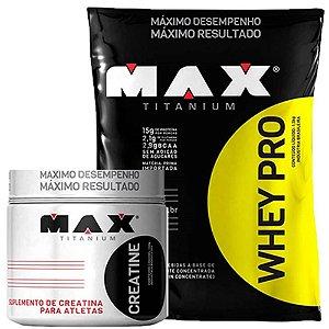 Whey pro 1,5 kg + Creatina 150g Max Titanium