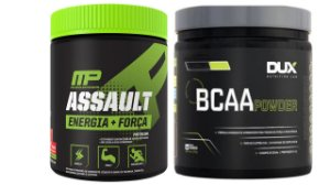 kit explosão Bcaa 200g dux + assault 300g