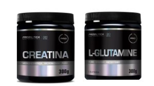 Creatina Pura 300g + Glutamina 300g Probiotica