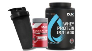 Kit Whey Protein Isolado 900g + Burn Supercut + coqueteleira