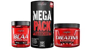 COMBO MEGA PACK + BCAA 90CAPS+ CREATINA 300G INTEGRALMEDICA
