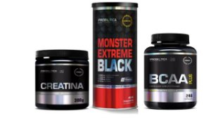 SUPER COMBO FORÇA MONSTER + CREATINA 300G+BCAA BOUND 240CAPS