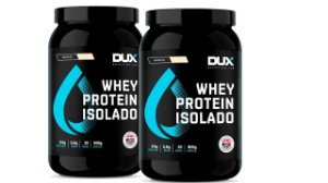 2 XWhey Protein Isolado - DUX Nutrition - 900g  cappuccino