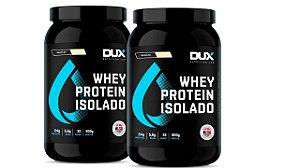 2 XWhey Protein Isolado - DUX Nutrition - 900g  cappuccino