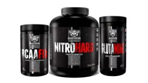 Super combo hipertrofia nitro hard+glutamina+bcaa