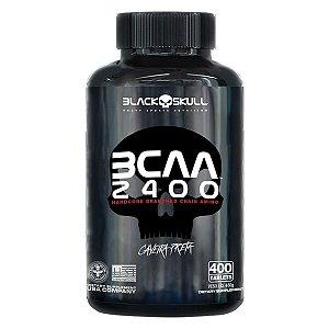 Bcaa Aminoácido Caveira Preta 2400 400 Tabletes Black Skul