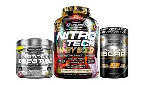 NITRO TECH 100%WHEY GOLD+ CREATINA PLATINUM 100%+BCAA 60 CAP