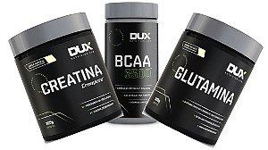 CREATINA 300 G + GLUTAMINA 300 G + BCAA 3500 100CAP DUX