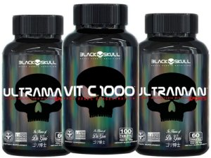 kit Imunidade masculina Vita C 100 cap+2xUltraman 60 caps