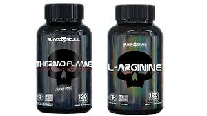 Combo Seca Gordura Thermo Flame 120tab+ Arginina 120 tab Bla