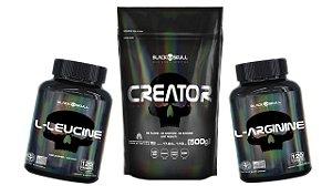 Combo Recuperador Muscular (Creatina 500g+Arginina+Leucine)