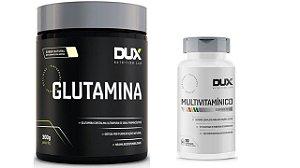 Multivitamínico 90 Caps + Glutamina Pura 300g Dux Nutrition