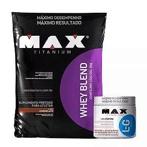 Combo Whey Blend (2kg) + L-glutamina (300g) - Max T