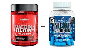Kit Seca Abdomen - Day And Night 120 Caps - Therma Pro integ