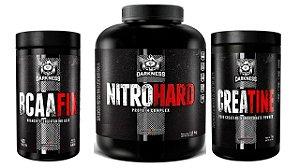 Super combo hipertrofia nitro hard+Creatina+bcaa