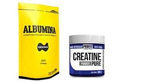 Kit Albumina 500 kg Naturovos + 1 x creatina 300g profit