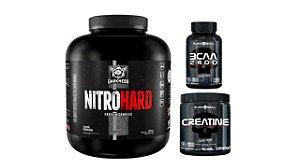 Nitro Hard 1,8kg + Bcaa 100 cap + creatina 300g