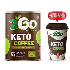 Keto Coffee 240g - Tradicional + Copo 350ml - 2Go Nutrition