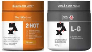 Termogenico 2hot + Glutamina 300g Max titanium