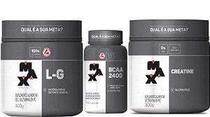 Creatina 300g + BCAA 100 caps + Glutamina 300g Max titanium