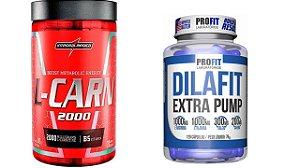 L-Carnitina 120 Caps integralmedica + Dilafit Extra Pump 120 Cáps Profit