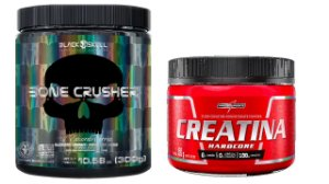 PRE TREINO BONE CRUSHER - 300G + CREATINA 150G INTEGRALMEDICA