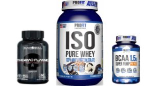 Whey Protein Isolado 907g + BCAA Super Pump 60 caps + Thermo Flame 60 caps