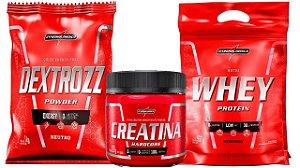 Whey Protein Nutri Whey 900g + Creatina 150g + Dextrozz 1 kg integralmedica