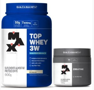 Top Whey 3W + Performance + Creatine 300g Max titanium