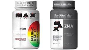 ZMA 90 capsulas + Multimax complex 90 capsulas max titanium