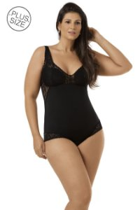 Body Modelador com Renda Plus-Size Mondress