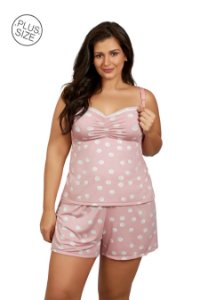 Pijama de Amamentação Babydoll Plus Size Mondress