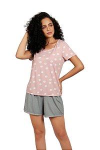 Pijama com Manga Curta Mondress