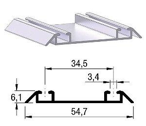Trilho inferior 2052 (barra 6m)
