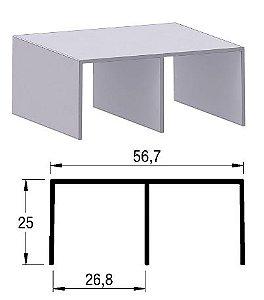 Trilho superior 2055 (barra 6m)