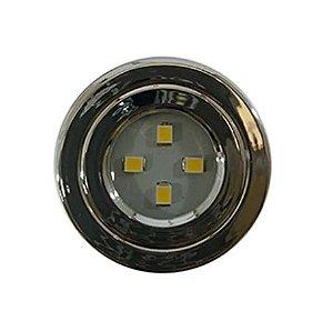 Spot LED cromado 39mm luz branca