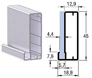 Perfil 1036 para porta de alumínio (barra 6m)