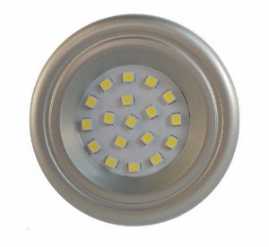 Spot LED prata 60mm luz branca