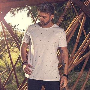 Camiseta Longline Corujas Branca