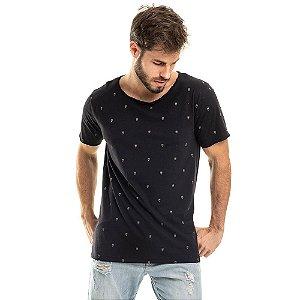 Camiseta Longline Corujas Preta