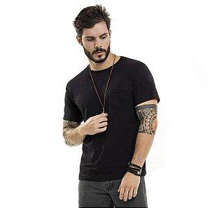 Camiseta Nogah Basic com Bolso Preta