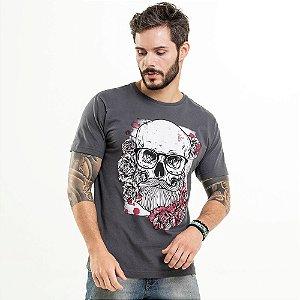Camiseta Caveira Chumbo