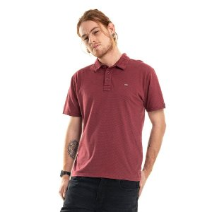 Camisa Polo Poá Bordô